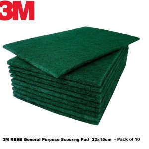 3M Heavy Duty Green Catering Scourer Pads Pack of 10
