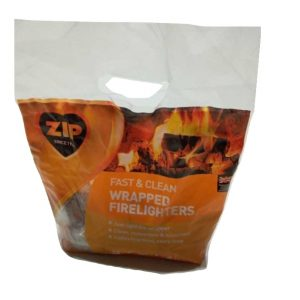ZIP Fast & Clean wrapped firelighters Pack 20