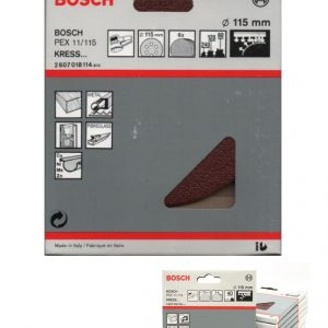 "Bosch 115mm / 4.5"" Quick Fit Sanding Discs. Mixed Grits"