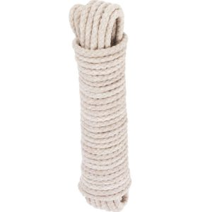 Cotton Multi-Purpose Sash Cord White 10m