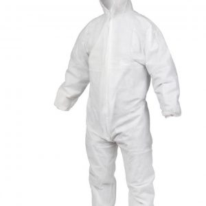 Derma Ply Disposable Coveralls Protective Boiler Suit White Size M