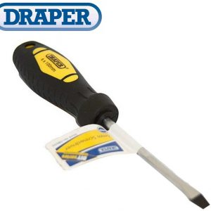 Draper Soft grip Slotted screwdriver