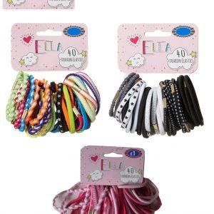 Ella Fashion Elastic Bobbles 40pk