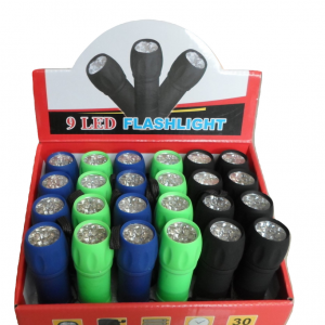 9 LED Rubber Finish Torch