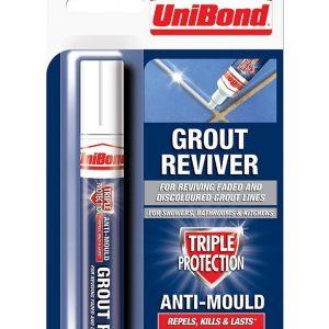 UniBond Anti Mould Reviver Grout Pen White-7ml