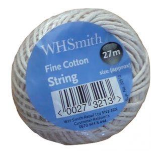 WHS 27mm Fine cotton string small bobbin