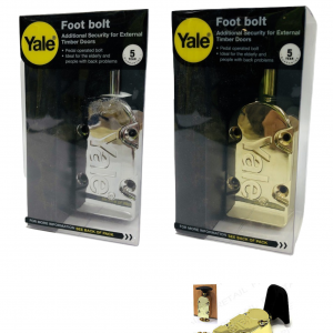 YALE Pedal Operated Foot Bolt Brass/Chrome