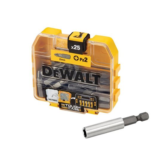 DEWALT 40 x 25 Piece PZ2 Screwdriver Bit Set & 40 Magnetic Bit Holders