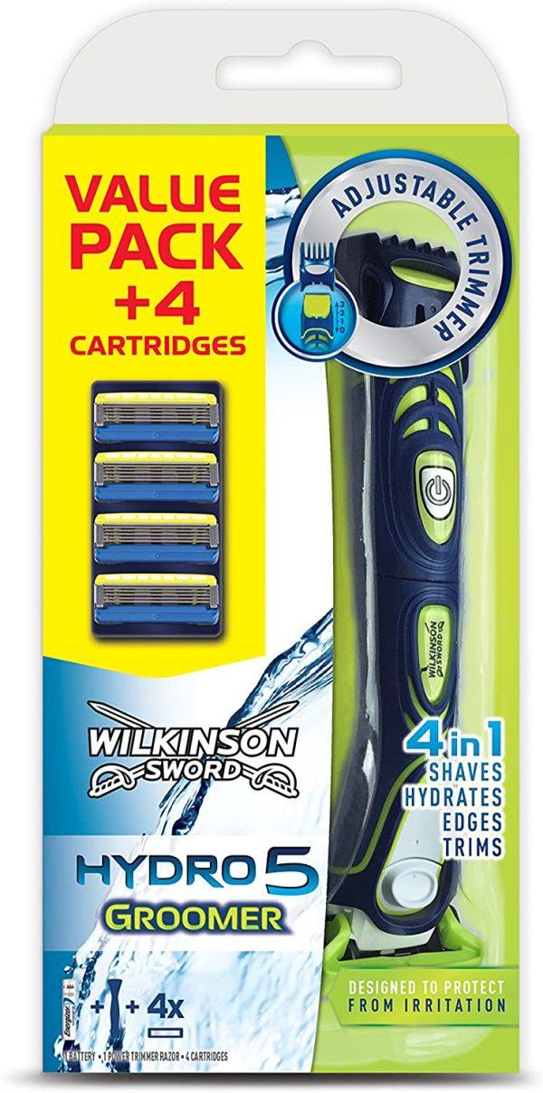 Wilkinson Sword Hydro 5 Groomer Men's 4-in-1 Shaver Razor Trimmer Pack