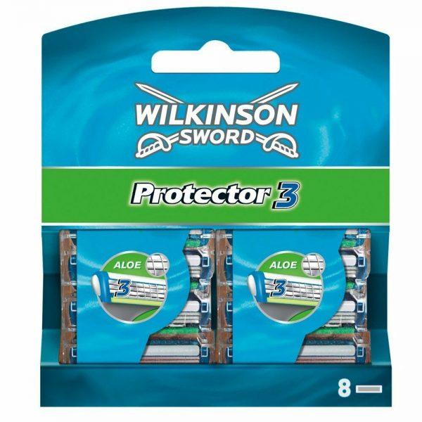 Wilkinson Sword Protector 3 Men's Razor Blade Refills x 8