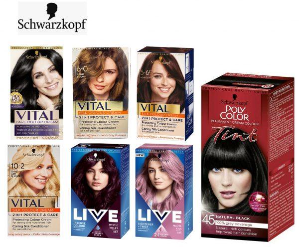 140x Schwarzkopf VITAL Hair Colours Mixed lot