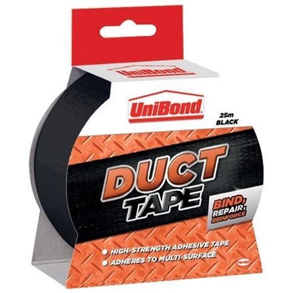 UNIBOND Duct Tape 25m Black