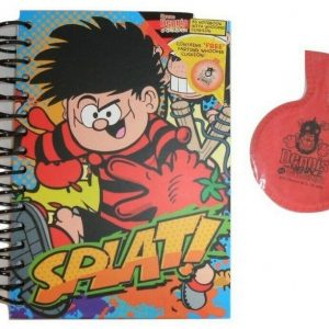 Beano Dennis A5 notebook and Whooppee cushion