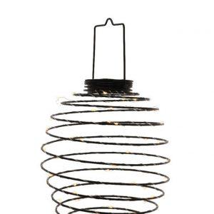 Lumineo Solar Powered LED Metal Wire Lantern