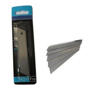 NOVIPRO Pack of 3 Snap-Off Knife Blades 18mm