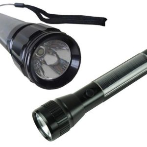 Maidston Solar Powered Aluminum Flashlight Torch