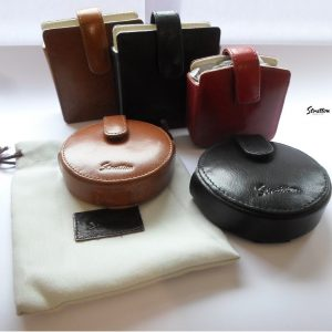 Stratton Italian Leather Compact carry Case