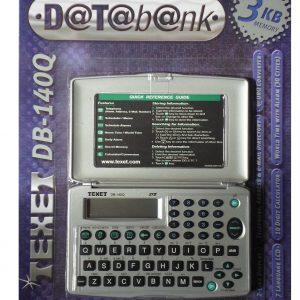 TEXET DB-140Q 3KB Personal Data Bank & Diary