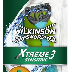 Wilkinson Sword Xtreme 3 Sensitive Men's Disposable Razors Pack 8
