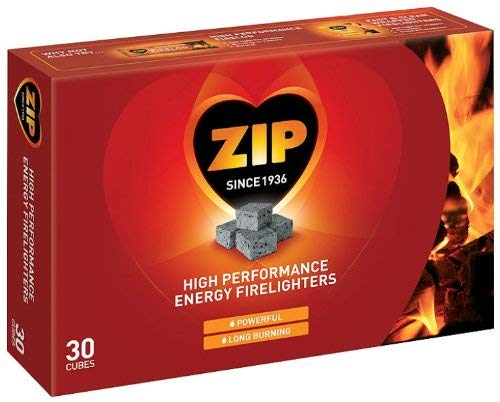 Zip Firelighters pack of 30 Cubes