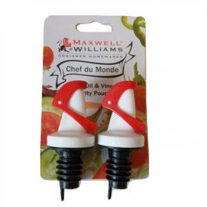 Pair Maxwell Williams Gravity Oil & Vinegar Pourer