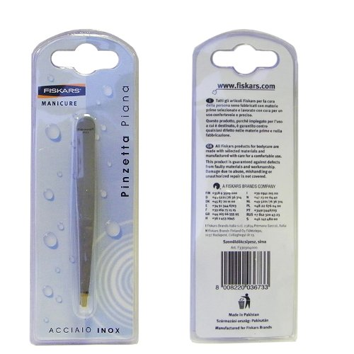 FISKARS Manicure Precision Flat Tweezers