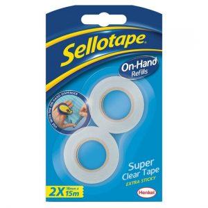 Sellotape On Hand Dispenser Refill Pack 0f 2