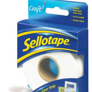 Sellotape Sticky Fixers Strip 25mm x 3m