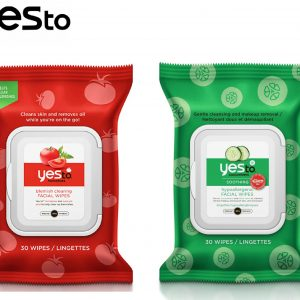 70x Yes To Tomatoes & Cucumbers Face Wipes( 30 wipes)